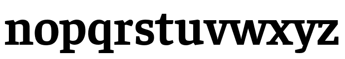 Faustina Bold Font LOWERCASE