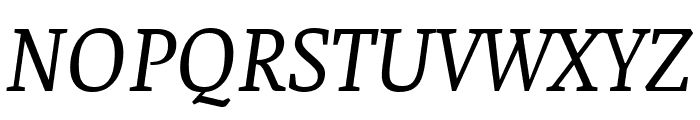 Faustina Italic Font UPPERCASE