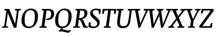 Faustina Medium Italic Font UPPERCASE