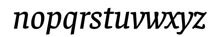 Faustina Medium Italic Font LOWERCASE
