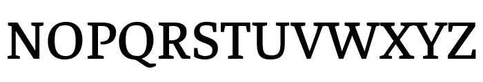 Faustina Medium Font UPPERCASE