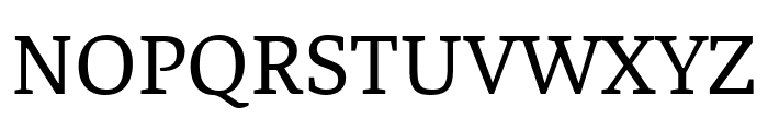 Faustina Regular Font UPPERCASE