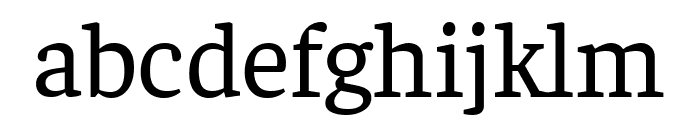 Faustina Regular Font LOWERCASE