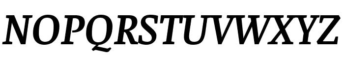 Faustina SemiBold Italic Font UPPERCASE