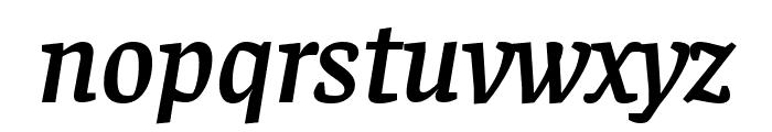Faustina SemiBold Italic Font LOWERCASE