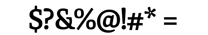 Faustina SemiBold Font OTHER CHARS