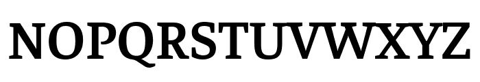 Faustina SemiBold Font UPPERCASE