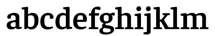 Faustina SemiBold Font LOWERCASE