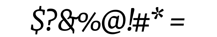 Faustina VF Beta Italic Font OTHER CHARS