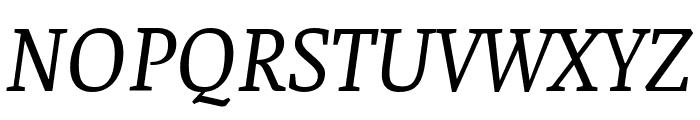 Faustina VF Beta Italic Font UPPERCASE