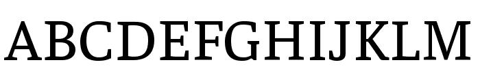 Faustina VF Beta Regular Font UPPERCASE