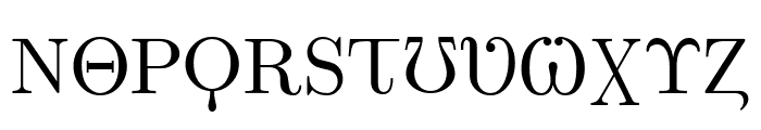 Faux Greeks Font UPPERCASE