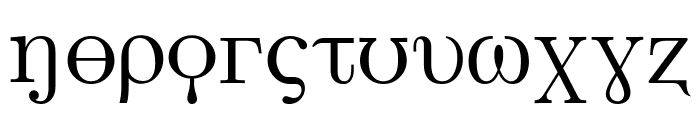 Faux Greeks Font LOWERCASE