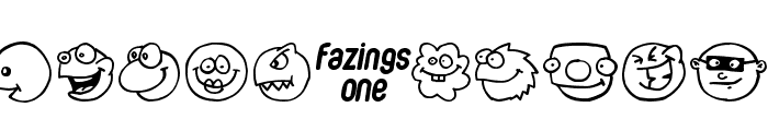 Fazings one Font UPPERCASE