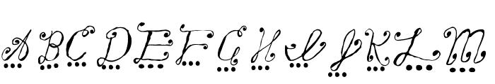 fancy rain Font UPPERCASE