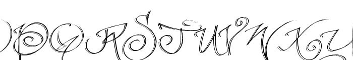 fancyPens Font UPPERCASE