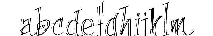 fancyPens Font LOWERCASE