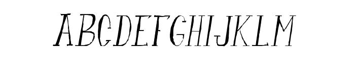 fanfarone-italique Font UPPERCASE