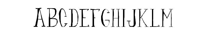 fanfarone Font LOWERCASE