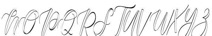 fantasy hollow Font UPPERCASE