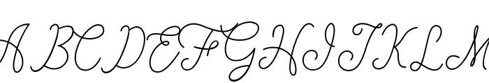 fanya Font UPPERCASE