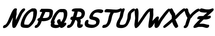 fat marker Italic Font UPPERCASE