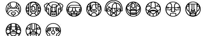 Faced Regular Font LOWERCASE