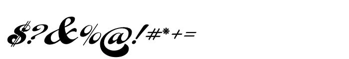 Fan Script Regular Font OTHER CHARS