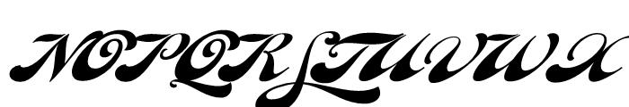 Fan Script Regular Font UPPERCASE