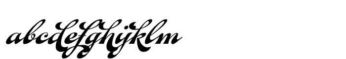 Fan Script Regular Font LOWERCASE