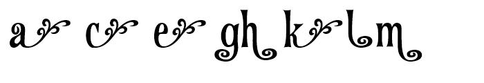 Fantini Alternates Two Font LOWERCASE