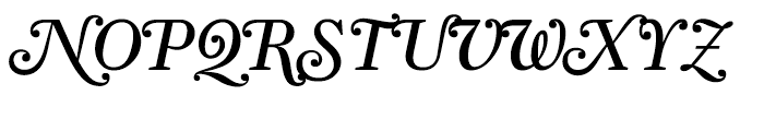 Farnham Display Regular Italic Swash Font UPPERCASE