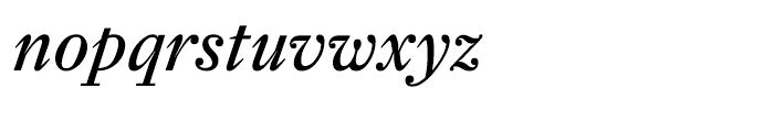 Farnham Text Regular Italic Font LOWERCASE