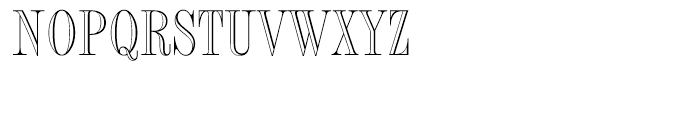 Fashion Engraved Font UPPERCASE