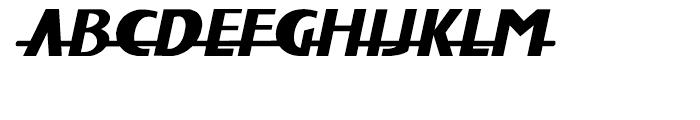 Fat Font Grotesk Streamline Italic Font UPPERCASE