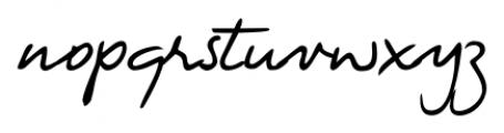 Fabio Handwriting Regular Font LOWERCASE