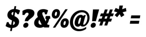 Fairplex Narrow Black Italic Font OTHER CHARS