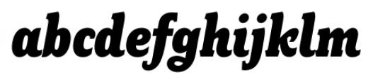 Fairplex Narrow Black Italic Font LOWERCASE