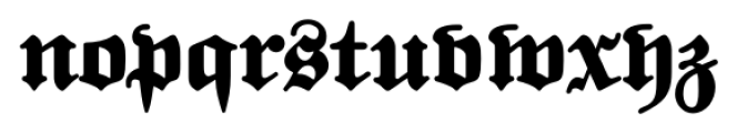 FatFritz Plus Font LOWERCASE