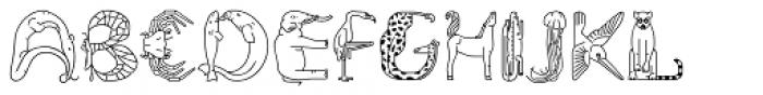 Fabel Line Font UPPERCASE