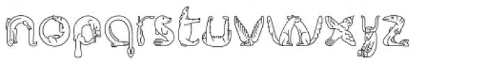 Fabel Line Font LOWERCASE