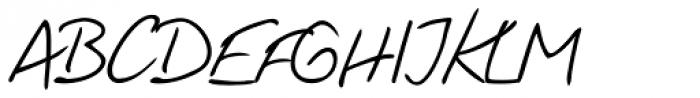 Fabio Handwriting Font UPPERCASE