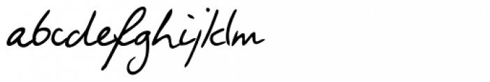 Fabio Handwriting Font LOWERCASE