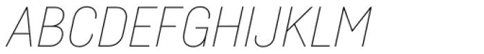 Fabrikat Hairline Italic Font UPPERCASE