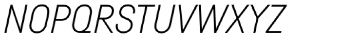 Fabrikat Light Italic Font UPPERCASE