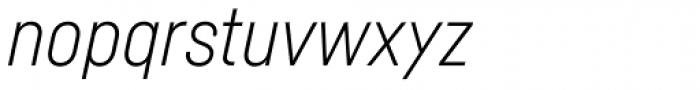 Fabrikat Light Italic Font LOWERCASE