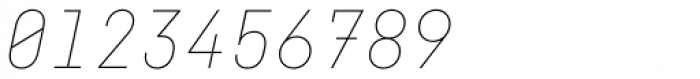 Fabrikat Mono Hairline Italic Font OTHER CHARS