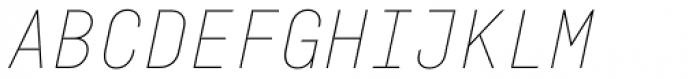Fabrikat Mono Hairline Italic Font UPPERCASE