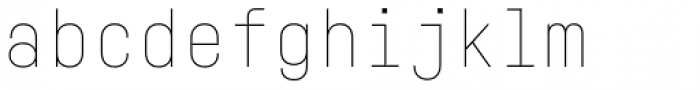 Fabrikat Mono Hairline Font LOWERCASE