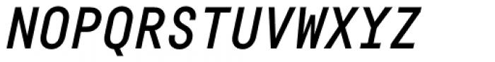 Fabrikat Mono Medium Italic Font UPPERCASE